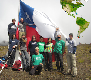 UConn students and faculty in Chile