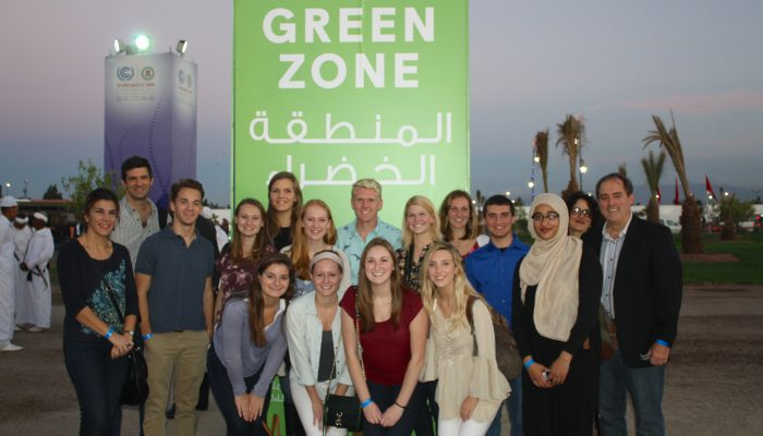 UConn students at COP-22 in Marrakech