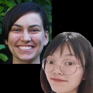 Photo of Nicole Kirchoff and Mei Liang